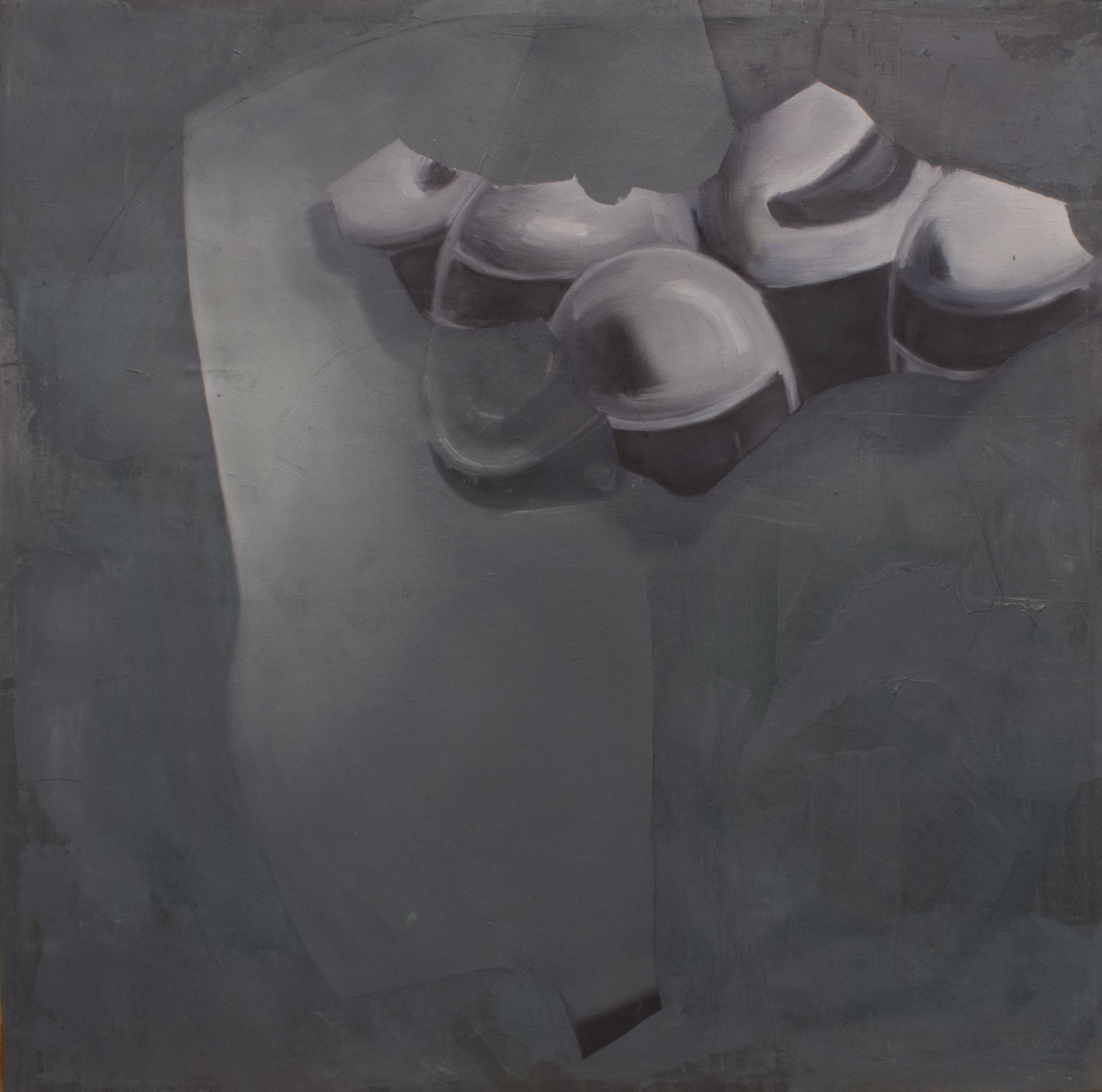 Portrait series, oil on canvas, 50 × 50 cm, 2014.