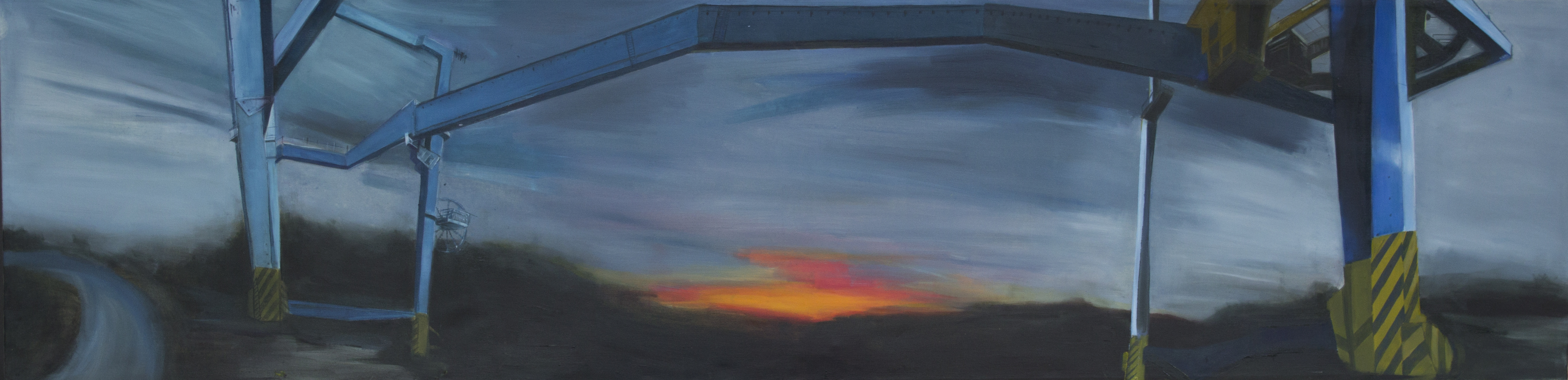 Untitled,  oil on canvas, 200 ×  50 cm, 2015.