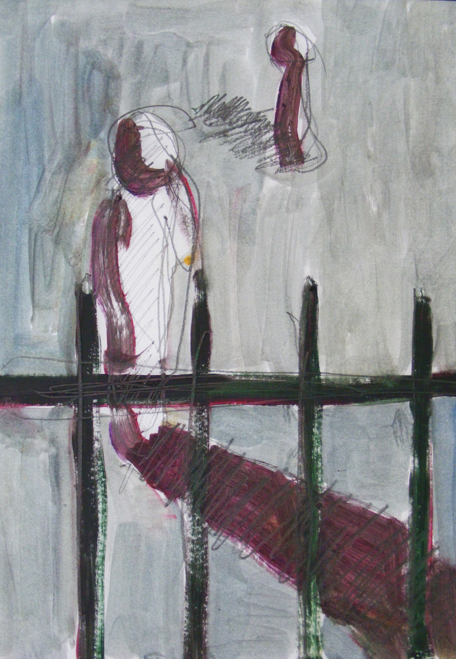 Untitled, oil on paper, 20 × 30 cm, 2015.