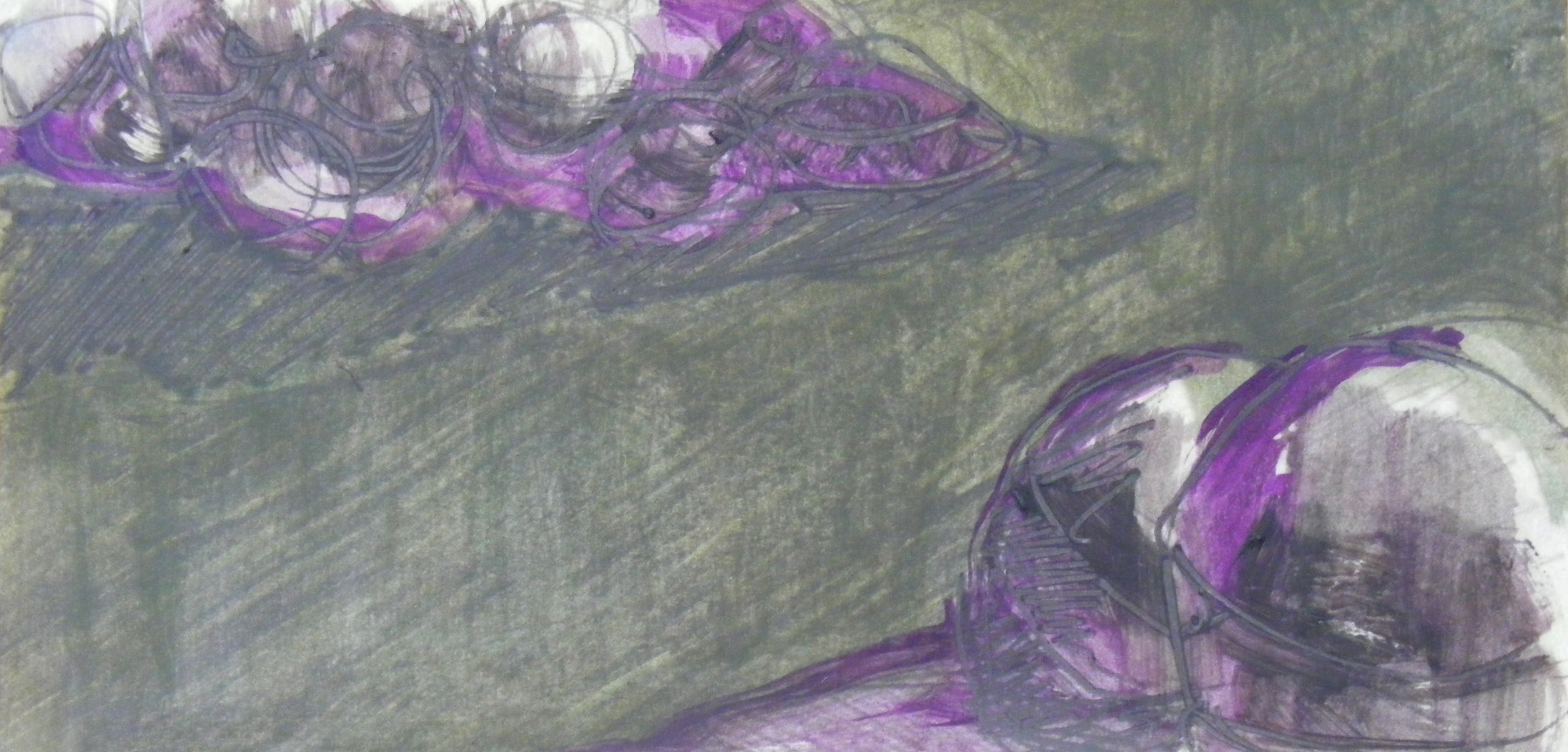 Untitled, oil on paper, 10 × 30 cm, 2015.
