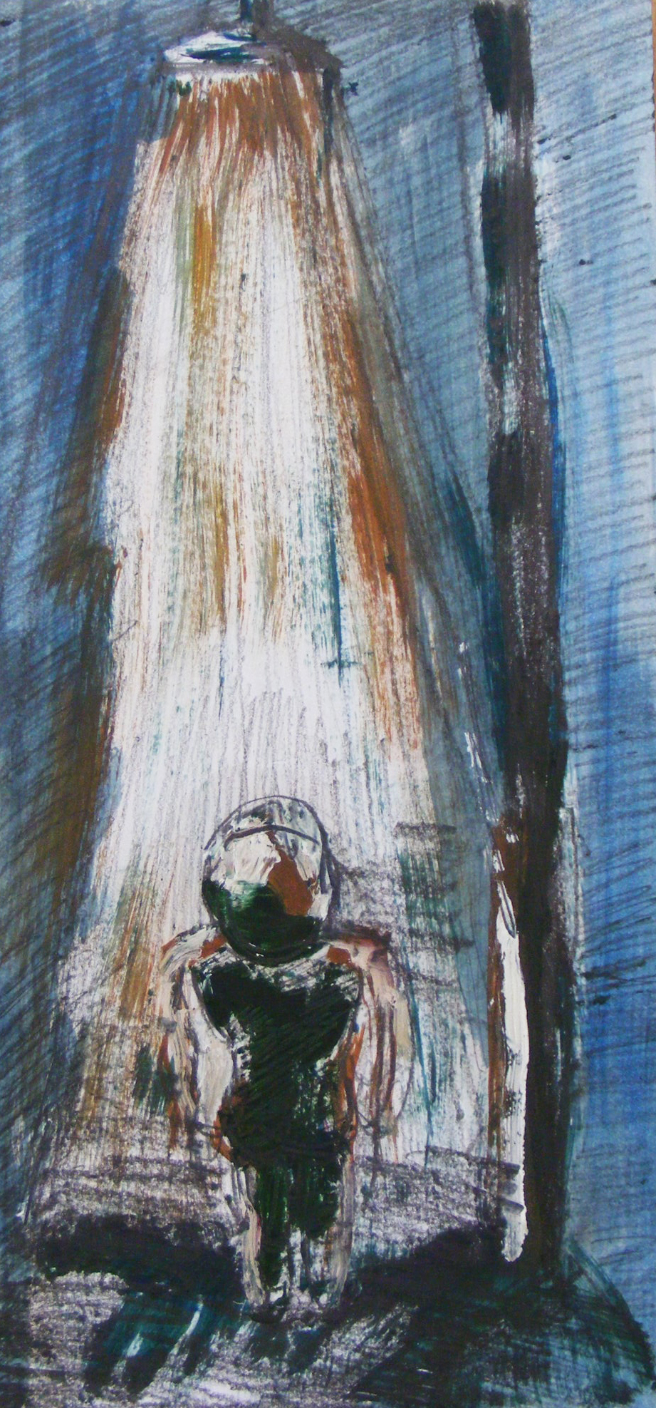 Untitled, oil on paper, 15 × 30 cm, 2015.