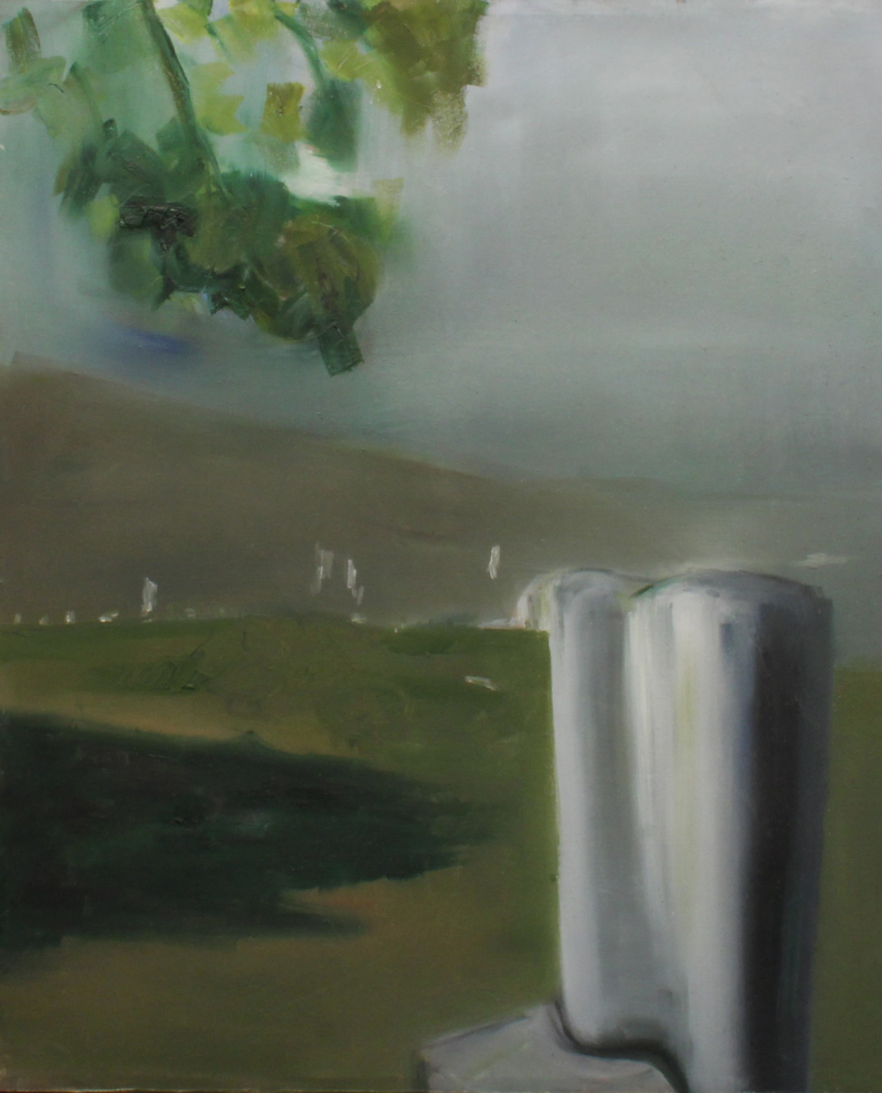 """Villány sculpture cemetery"" I., oil on canvas, 70 × 50 cm, 2015."