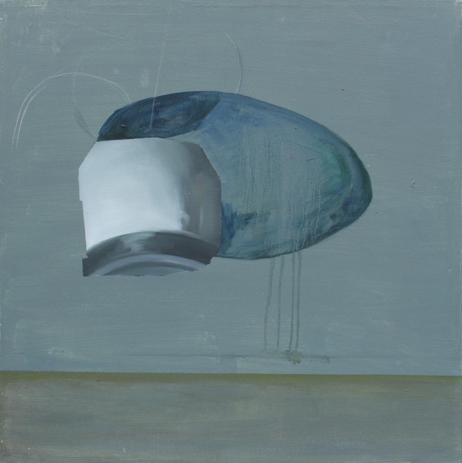 adrienn erdei Portrait series, oil on canvas, 50 × 50 cm, 2014.