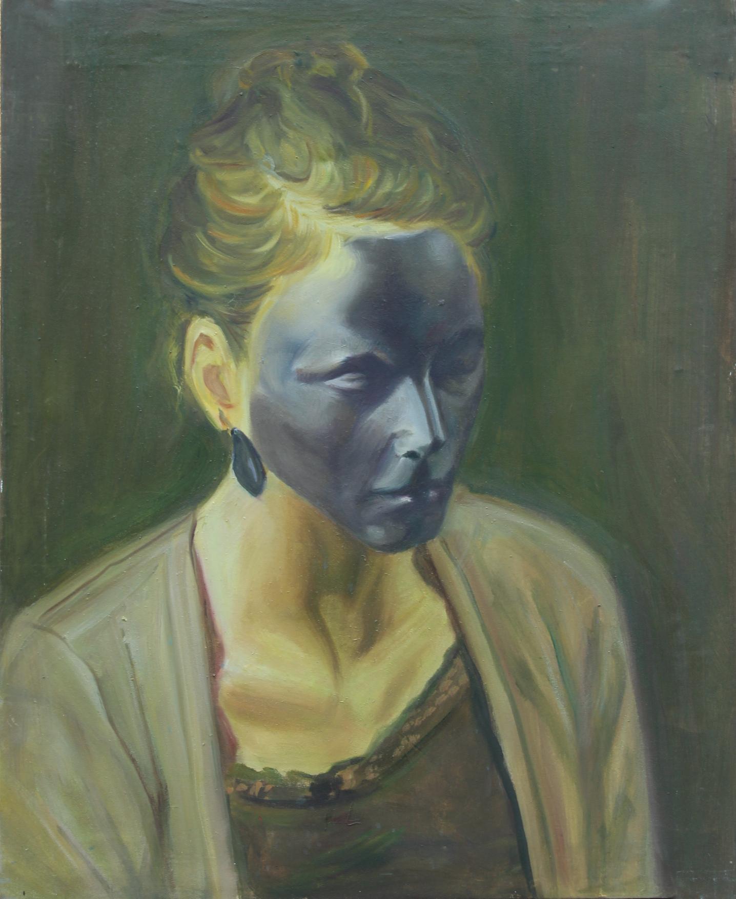 adrienn erdei Self portrait, oil on canvas, 50 × 70 cm, 2014.